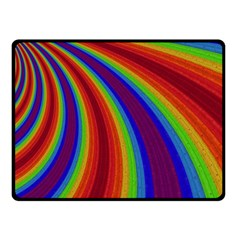 Abstract Pattern Lines Wave Fleece Blanket (small)