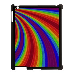 Abstract Pattern Lines Wave Apple Ipad 3/4 Case (black)