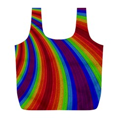 Abstract Pattern Lines Wave Full Print Recycle Bags (l)