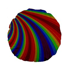 Abstract Pattern Lines Wave Standard 15  Premium Flano Round Cushions