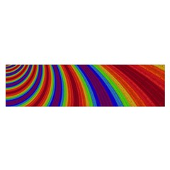Abstract Pattern Lines Wave Satin Scarf (oblong)