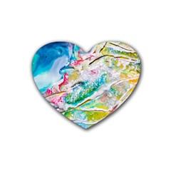 Art Abstract Abstract Art Heart Coaster (4 Pack)