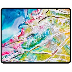 Art Abstract Abstract Art Fleece Blanket (medium)
