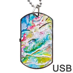 Art Abstract Abstract Art Dog Tag Usb Flash (one Side)
