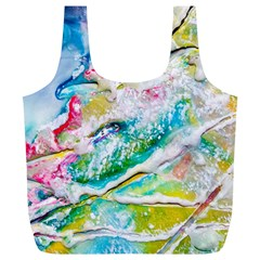 Art Abstract Abstract Art Full Print Recycle Bags (l)