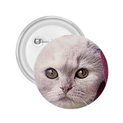 Cat Pet Cute Art Abstract Vintage 2 25  Buttons