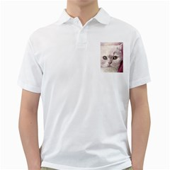 Cat Pet Cute Art Abstract Vintage Golf Shirts