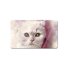 Cat Pet Cute Art Abstract Vintage Magnet (name Card) by Nexatart