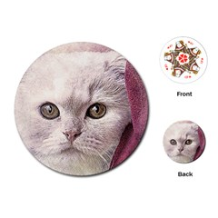 Cat Pet Cute Art Abstract Vintage Playing Cards (round)