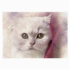 Cat Pet Cute Art Abstract Vintage Large Glasses Cloth