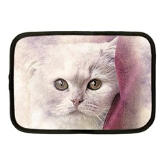 Cat Pet Cute Art Abstract Vintage Netbook Case (medium)