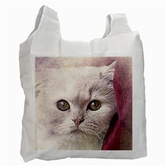 Cat Pet Cute Art Abstract Vintage Recycle Bag (one Side)