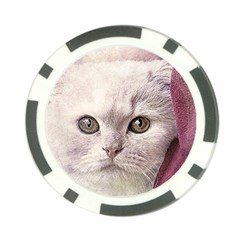 Cat Pet Cute Art Abstract Vintage Poker Chip Card Guard (10 Pack)