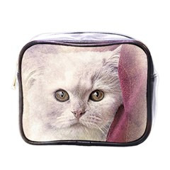 Cat Pet Cute Art Abstract Vintage Mini Toiletries Bags