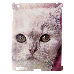 Cat Pet Cute Art Abstract Vintage Apple Ipad 3/4 Hardshell Case (compatible With Smart Cover)