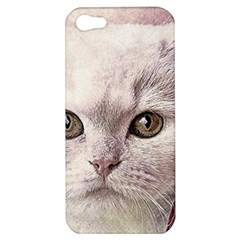 Cat Pet Cute Art Abstract Vintage Apple Iphone 5 Hardshell Case