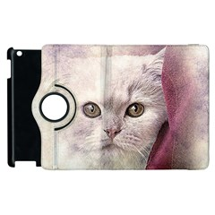 Cat Pet Cute Art Abstract Vintage Apple Ipad 3/4 Flip 360 Case by Nexatart
