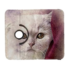 Cat Pet Cute Art Abstract Vintage Galaxy S3 (flip/folio)