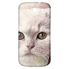 Cat Pet Cute Art Abstract Vintage Samsung Galaxy S3 S Iii Classic Hardshell Back Case