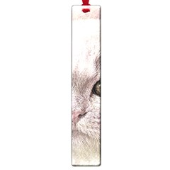 Cat Pet Cute Art Abstract Vintage Large Book Marks