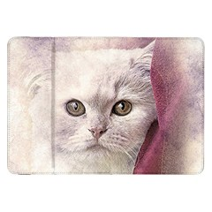 Cat Pet Cute Art Abstract Vintage Samsung Galaxy Tab 8 9  P7300 Flip Case