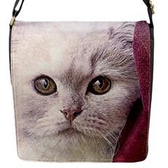 Cat Pet Cute Art Abstract Vintage Flap Messenger Bag (s)