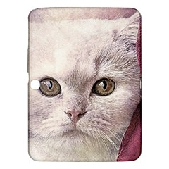 Cat Pet Cute Art Abstract Vintage Samsung Galaxy Tab 3 (10 1 ) P5200 Hardshell Case