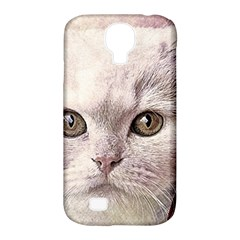 Cat Pet Cute Art Abstract Vintage Samsung Galaxy S4 Classic Hardshell Case (pc+silicone)