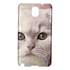 Cat Pet Cute Art Abstract Vintage Samsung Galaxy Note 3 N9005 Hardshell Case