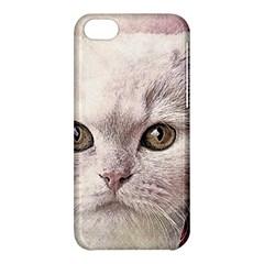 Cat Pet Cute Art Abstract Vintage Apple Iphone 5c Hardshell Case