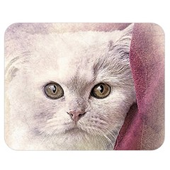 Cat Pet Cute Art Abstract Vintage Double Sided Flano Blanket (medium)