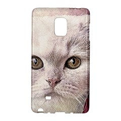 Cat Pet Cute Art Abstract Vintage Galaxy Note Edge