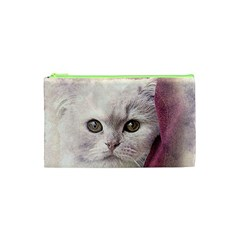 Cat Pet Cute Art Abstract Vintage Cosmetic Bag (xs)