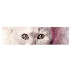 Cat Pet Cute Art Abstract Vintage Satin Scarf (oblong)