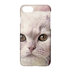 Cat Pet Cute Art Abstract Vintage Apple Iphone 8 Hardshell Case