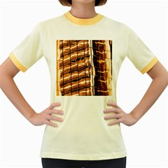 Abstract Architecture Background Women s Fitted Ringer T Shirts