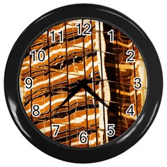 Abstract Architecture Background Wall Clocks (black)
