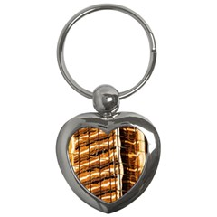 Abstract Architecture Background Key Chains (heart)