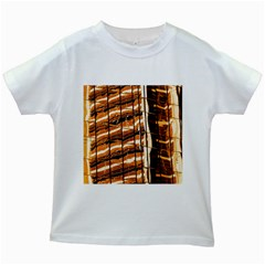 Abstract Architecture Background Kids White T Shirts