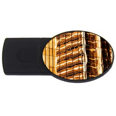 Abstract Architecture Background Usb Flash Drive Oval (2 Gb)