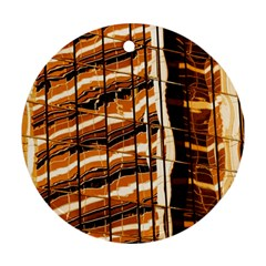 Abstract Architecture Background Round Ornament (two Sides)