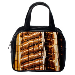 Abstract Architecture Background Classic Handbags (one Side)