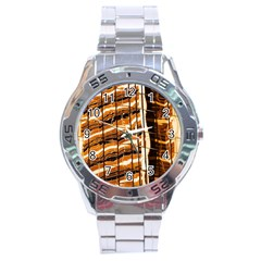 Abstract Architecture Background Stainless Steel Analogue Watch