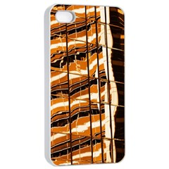 Abstract Architecture Background Apple Iphone 4/4s Seamless Case (white)