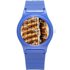 Abstract Architecture Background Round Plastic Sport Watch (s)