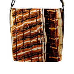 Abstract Architecture Background Flap Messenger Bag (l)