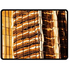Abstract Architecture Background Double Sided Fleece Blanket (large)