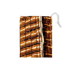 Abstract Architecture Background Drawstring Pouches (small)