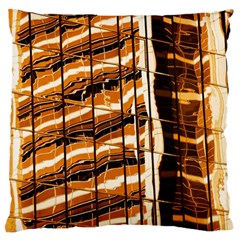 Abstract Architecture Background Large Flano Cushion Case (one Side)