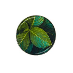 Green Plant Leaf Foliage Nature Hat Clip Ball Marker (4 Pack)